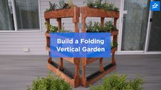 Build Your Own Vertical Garden With Shipping Pallets This folding vertical garden is perfect for turning a small space into a beautiful place.This folding vertical garden is perfect for turning a small space into a beautiful place. Herb Garden Pallet, Container Herb Garden, Diy Herb Garden, Pallets Garden, Garden Crafts, Garden Projects, Pallet Gardening, Small Outdoor Herb Garden Ideas, House Projects