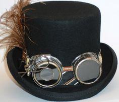 Men's Steam Punk Top Hat by AnnMadeBoutique on Etsy, $70.00