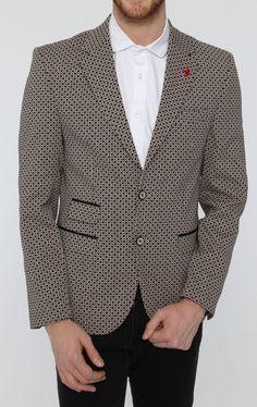 1a1c74d91436 Ecru Pebble Fitted Blazer Sport Coat, Double Breasted, Menswear, Shawl,  Beige,