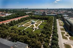 This is the aerial view of Hofgarten,situated in centre of Munich city. More about Munich at http://www.muenchen.de/?utm_content=buffer2fe08&utm_medium=social&utm_source=pinterest.com&utm_campaign=buffer Image Courtesy: München Tourismus