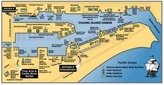 Map of Channel Islands Harbor Channel Islands, Waterworks, Yacht Club, Great Places, Things To Do, Real Estate, California, Entertaining, Map