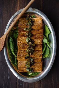 Korean Soy-Braised Tofu (dubu jorim) (recipe) / by Two Red Bowls