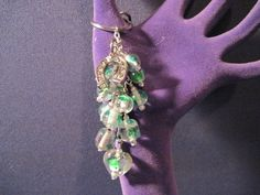 Green Glass Bead Purse Charm / Key Chain by FoxyFundanglesByCori, $10.00