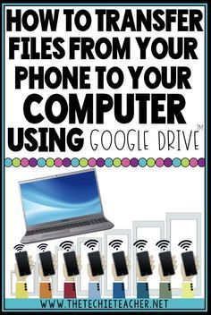 How to Transfer Files from Your Phone to Your Computer (The Techie Teacher) Life Hacks Computer, Computer Help, Computer Internet, Computer Tips, Computer Security, Tablet Computer, Iphone Hacks, Cell Phone Hacks, Technology Hacks