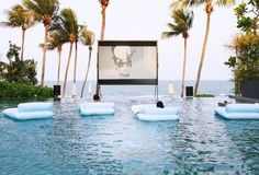 cinema, pool, audreyandsummer