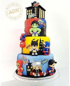 New birthday cake decorating for men fondant 33 ideas Superhero Birthday Cake, New Birthday Cake, Avengers Birthday, Birthday Cupcakes, Birthday Cakes For Boys, Birthday Ideas, Cupcakes For Men, Fun Cupcakes, Cupcake Cakes