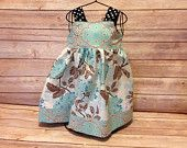 Boutique Girls turquoise floral knot dress, size 12-18 mos only, girls easter dress