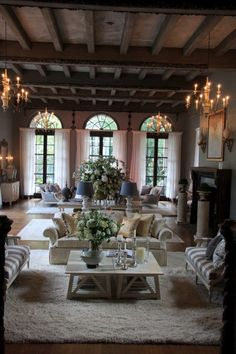 Rustic Elegance  - I love this room