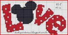 Ricami e schemi a Punto Croce gratuiti: Topolina Disney -cross stich