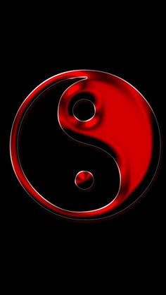 By Artist Unknown. Ying Yang Wallpaper, Red Wallpaper, Cute Disney Wallpaper, Apple Wallpaper, Wallpaper Backgrounds, Wallpapers, Iphone Wallpaper, Ying Y Yang, Yin Yang Art