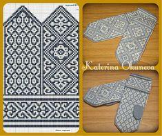 "Der Neuen : Foto van het album ""Unassembled into Unassembled into my knitting"", Knitted Mittens Pattern, Fair Isle Knitting Patterns, Knitting Charts, Knit Mittens, Afghan Crochet Patterns, Knitted Gloves, Knitting Stitches, Knitting Designs, Knitting Projects"