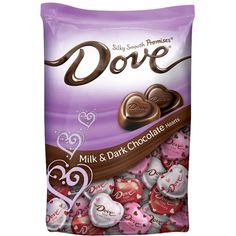 Dove Valentine's Day Milk and Dark Chocolate Hearts - Dark Chocolate Candy, Coconut Hot Chocolate, Chocolate Work, Chocolate Sweets, Chocolate Hearts, Chocolate Gifts, Valentines Day Chocolates, Valentine Chocolate, Disney Gift Card