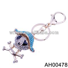 skull stuff | promotional items skull crystal charm keychain wholesale