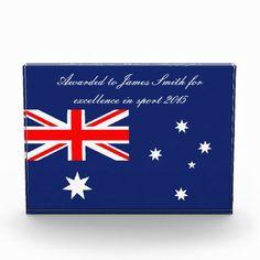 1acbf5a235 Australia flag custom sport award Australian Flags, Acrylic Awards, Sports  Awards, Union Jack