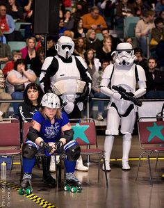 Jowanna BEAT Down of the North Star Rollergirls in the Imperial Penalty Box. Picture by Paul Robertson (aka Preflash Gordon).