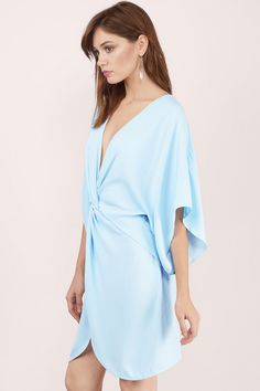 Prom Dresses, Tobi, Light Blue Adriana Wrap Dress