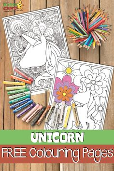 Looking for unicorn coloring pages - then we have some gorgeous kids and adult ones for you to check out. Unicorn Coloring Pages, Jungle Coloring Pages, Coloring Pages For Kids, Colouring Pages, Fun Crafts To Do, Crafts For Kids, Unicorn Drawing, Unicorn Crafts, Printable Coloring