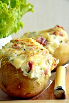 Baked potatoes au gratin in the county - easy recipe .- Baked potatoes au gratin in the county – easy recipe – Nathalie& cooking - Easy Cooking, Cooking Recipes, Easy Recipes, Potatoes Au Gratin, Baked Potatoes, Salty Foods, No Cook Meals, I Foods, Food Inspiration