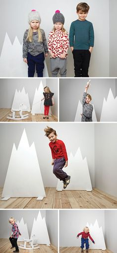 Handmade backdrops for product shots or markets?  from Ígló Kids Winter 2012