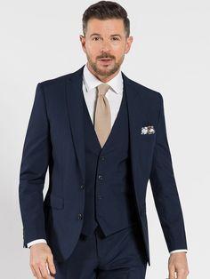 Ventura Navy 3-Piece Slim Fit Suit   Slater Menswear Navy Grey Suit, Navy 3 Piece Suit, Navy Slim Fit Suit, Three Piece Suit, 3 Piece Suits, Navy Suits, Business Shirts, Business Dresses, Suits For Women