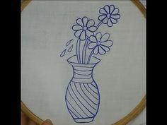 hand embroidery #Handembroidery#embroidery Diy Embroidery Stitches, Simple Hand Embroidery Designs, Hand Embroidery Flower Designs, Hand Embroidery Tutorial, Rose Embroidery, Buttonhole Flowers, Butterfly Stitches, Beautiful Flower Designs, Easy Stitch