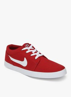 Nike Voleio Canvas Red Sneakers  #Nike, #Red, #Canvas