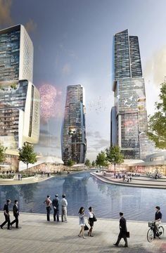 UNStudio to Design Yongjia World Trade Center in Wenzhou, China | Rendering of UNStudio's proposed Yongjia World Trade Center (Image: UNStudio; Rendering: moka-studio) | Bustler