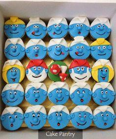 cupcakes cakes | Cupcakes » Smurfs cupcakes