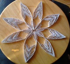 Quilling Stern weiss - gold