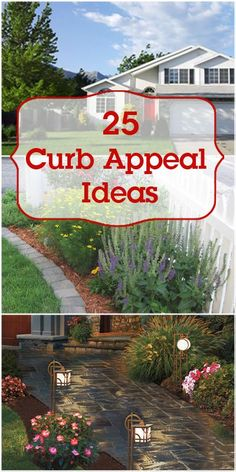 25 Curb Appeal Ideas -- Make your home exterior beautiful! @Remodelaholic Buying a House #homeowner