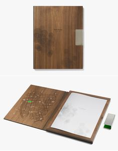Laser-etched book cover for Park House by UK's NB Studio.