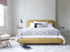 Good enough to eat! And this squish machine is compact too, so it wont dominate bite-size bedrooms. French Bed, Comfy Sofa, Target, Guest Bed, Good Enough To Eat, Cookies Et Biscuits, Mellow Yellow, Bed Sheets, Home Accessories