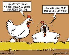 - Du hättest dich nicht mit diesem Strauss einlassen sollen!  + Ich will eine PDA! Ich will eine PDA!  #karikatur #humor #spruch #sprüche #lustig #cool #witzig