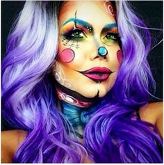 """Mehron Theatre Makeup and Supplies, Professional Theatrical and Stage Makeup, Character Kits"""" Dramatic Makeup, Scary Makeup, Clown Makeup, Costume Makeup, Halloween Face Makeup, Art Costume, Halloween Make Up, Halloween 2017, Halloween Ideas"""