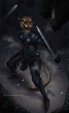 Khajiit by pocketbee on deviantART.