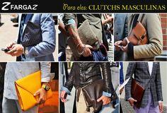Apesar da mochila ser um acessório na moda masculina, há outro modelo de bolsa que apareceu há um tempo para os homens; a clutch! Foi incorporada no guarda-roupa dos homens mais estilosos por aí.