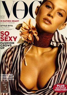 2e750fb56184e AUSTRALIAN VOGUE - MARCH 2000 COVER MODEL - GISELE BUNDCHEN Parecidas,  Revista Vogue, Capas