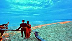 Just unreal color of the sky! Photo by Couple Shoots, cam catches, Goa Planner Organisation, Couple Shoot, Goa, Photoshoot, Indian, Album, Couples, Wedding Dresses, Sweet
