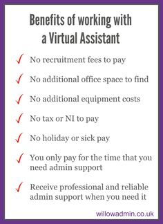 Benefits of working with a Virtual Assistant #cremeva #virtualassistant www.creme-va.co.uk