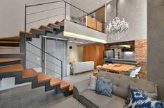 Casinha colorida: Um loft eleganterrímo!