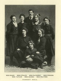 Oregon Women's Basketball Team 1900 - 1901.  From the 1902 Webfoot.  www.CampusAttic.com