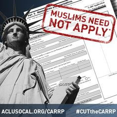 """Muslims Need Not Apply 
