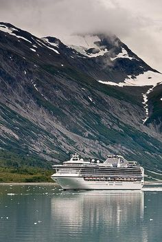 Glacier Bay, Alaska. Going to see real glaciers on a cruise ship would be really cool too!