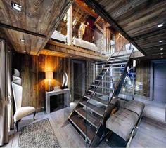 Оригинальное совмещение двух комнат в загородном доме.