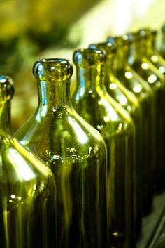 Green Olive Oil Bottles Paris, France - 8x10 Fine Art Photograph - emerald green. $30.00, via Etsy. #lifeinstyle #greenwithenvy
