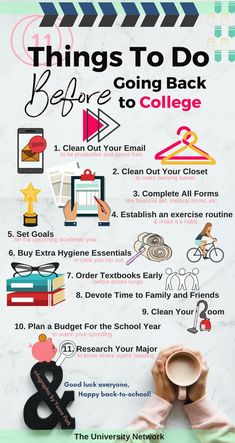 Things to Do Before Going Back to College Do these 11 things before leaving for college and kick off your year the right way!Do these 11 things before leaving for college and kick off your year the right way! College Life Hacks, School Hacks, College Tips, College Dorms, Study College, Espn College, College Board, College Essay, School Tips
