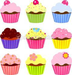 Various cupcake — Imagens vectoriais em stock #7341970