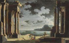 Leonardo Coccorante (Naples, 1680-1750), Capriccio con la Veduta de Bahia