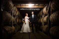 Amanda & Tony's fall wedding at Buffalo Trace Distillery in Frankfort, KY. Photo by Willie Wilson Photography