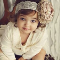 Adorable, love the headband with huge bow!